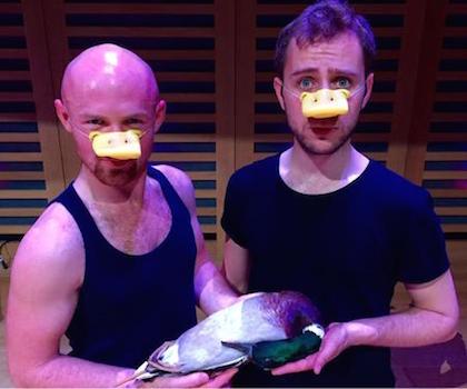 Andrew Walker, Guy Woolf in Dan Gillingwater's The Homosexual Necrophiliac Duck Opera