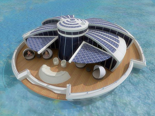 Una casa galleggiante a impatto zero per godersi il mare e la natura