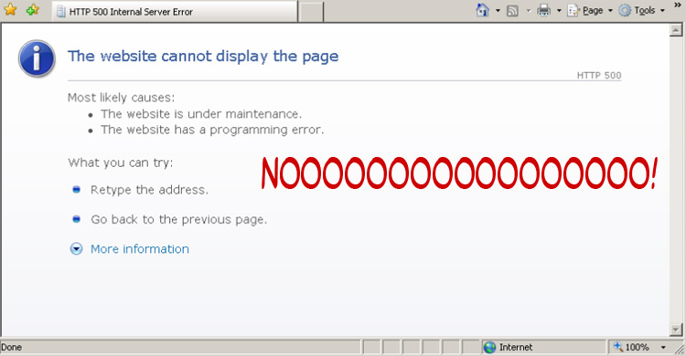 WordPress 500 Server Error White Screen of Death