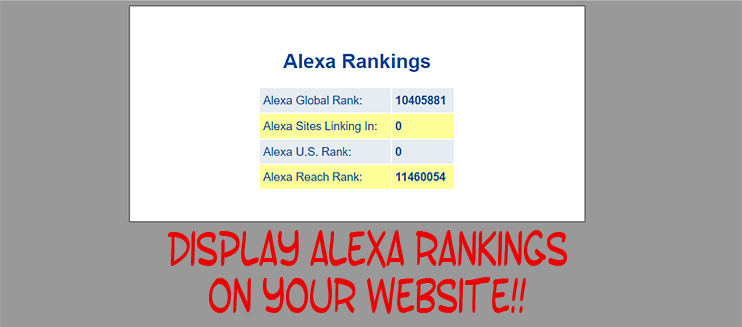 Check Alexa Rank with PHP