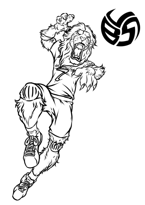 Lion Coloring Pages With Volleybragswag Star T.T. Mugb
