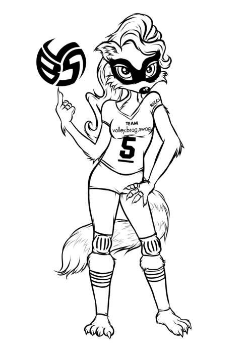 Raccoon Coloring Pages With Volleybragswag Setter Ricci