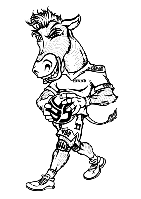Zebra Coloring Pages With Volleybragswag Outside Hitter