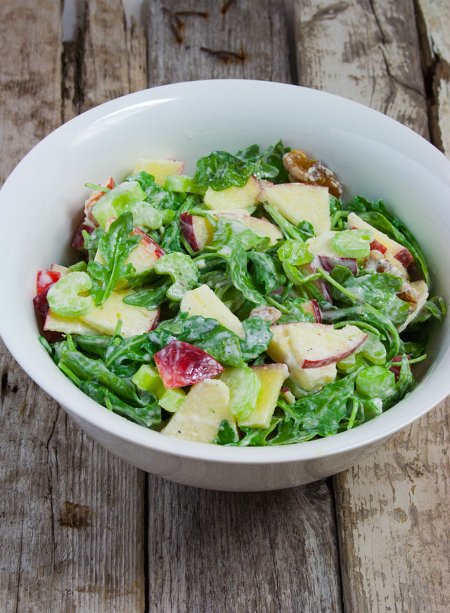 Apple Walnut Salad with Lemon Sour Cream Dressing