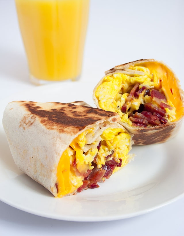 Bacon and Egg Breakfast Wrap