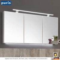 Puris Vuelta Spiegelschrank mit LED Aufbauleuchte 140 cm ...