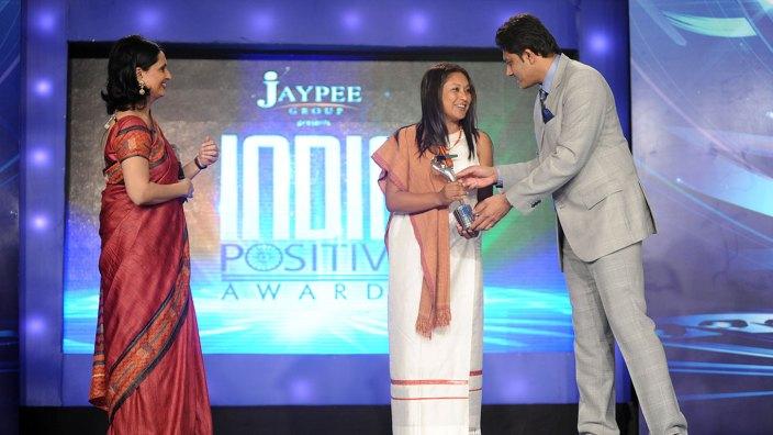 Hasina Kharbhih - CNN IBN India Positive Awards Oct 2012