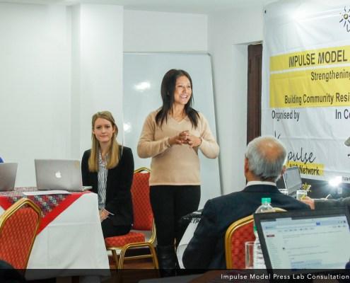 Hasina Kharbhih at the Impulse Model Press Lab Inaugural Consultation