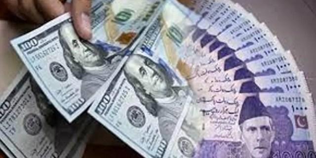 انٹر بینک میں پاکستانی روپے کے مقابلے میں امریکی ڈالر کی قدر میں5پیسے کی کمی