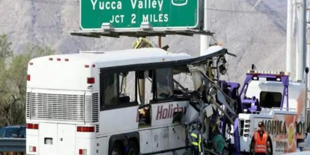 کیلیفورنیامیں ٹریفک حادثہ،15افراد ہلاک،متعددزخمی