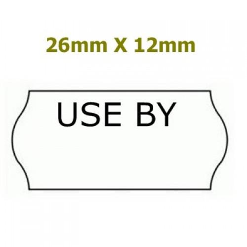 *BOX* 26X12 Price Gun Labels' USE BY' Permanent Plain White