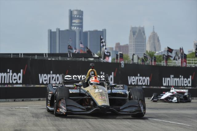 Hinchcliffe fue parte del dominio de Honda del viernes (FOTO: Chris Owens/IMS, LLC Photo)