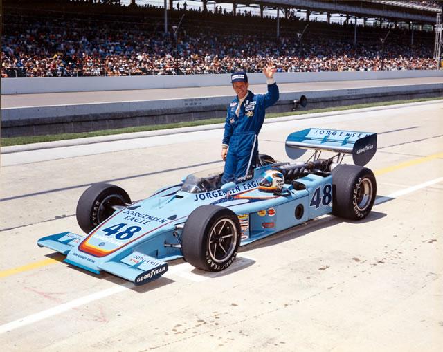 El Jorgensen Eagle Special ganó en Indianapolis en 1975, siendo la victoria más representativa de Gurney en el Speedway (FOTO: IMS Photo)