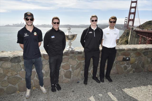 Los cuatro aspirantes oficiales al título (FOTO: Chris Owens/IMS, LLC Photo)