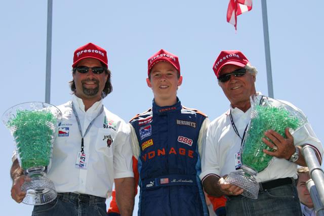 Michael, Marco y Mario Andretti (FOTO: Ron McQueeney/INDYCAR)