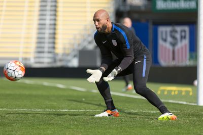 Columbus, Ohio on April 28, 2016.  Tim Howard focused on what is in front of him.  After the match, Howard heads back to European play in the Premier League.