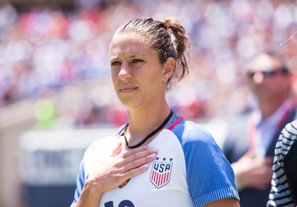 Carli Lloyd played in the match between the USA and South Africa on July 9, 2016 at Soldier Field. Despite concerns over ongoing injuries - Coach Jill Ellis added Lloyd to the Olympic roster.
