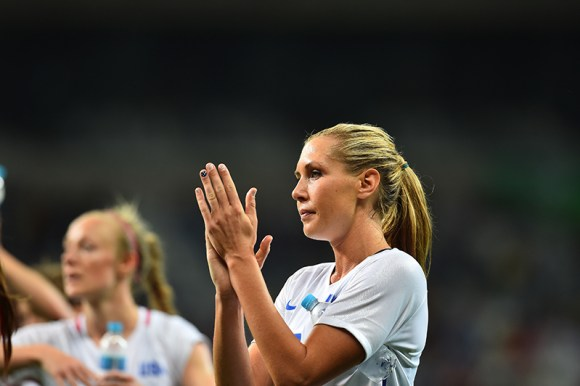 "Belo Horizonte, Brazil - Wednesday, August 3, 2016: The USWNT go on to defeat New Zealand 2-0 in Group G play during the 2016 Olympics at Mineir""o stadium."