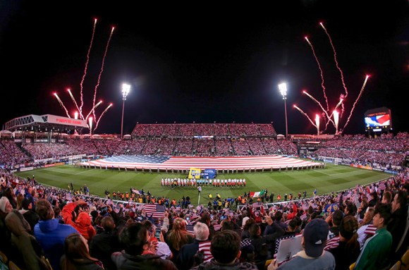 Columbus, OH - November 11, 2016: Play begins as the USMNT host Mexico in the World Cup Qualifer Hex. Photo by John Dorton.