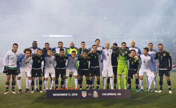Columbus, Ohio - Friday, November 11, 2016: Mexico, United States during a USMNT vs Mexico WCQ at Mapfre Stadium. Mexico defeated the USA 2-1. Photo by David Leah.