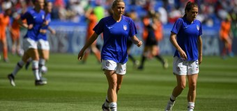 US Women's Warms Up for Match Against Netherlands