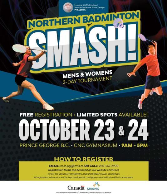 IMSS Northern Badminton SMASH 2021 Poster