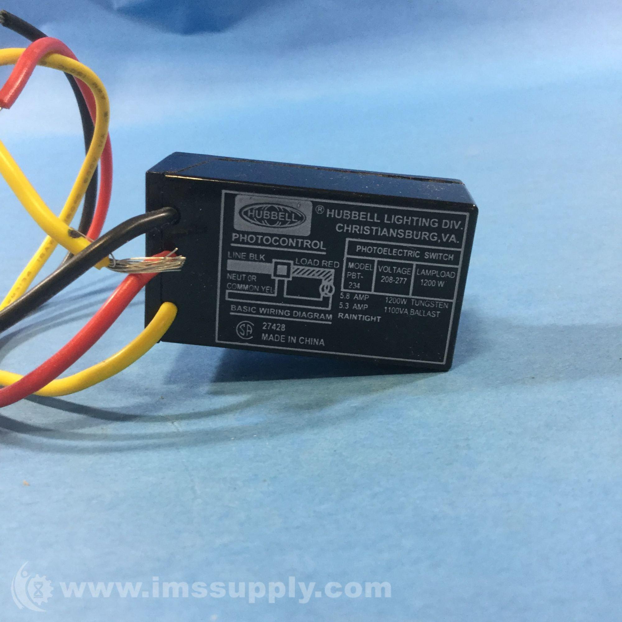 hight resolution of hubbel pbt 234 sensor photocell button 208 240 277 volt ims supply rh imssupply com photocell wiring directions 3 wire photocell wiring diagram