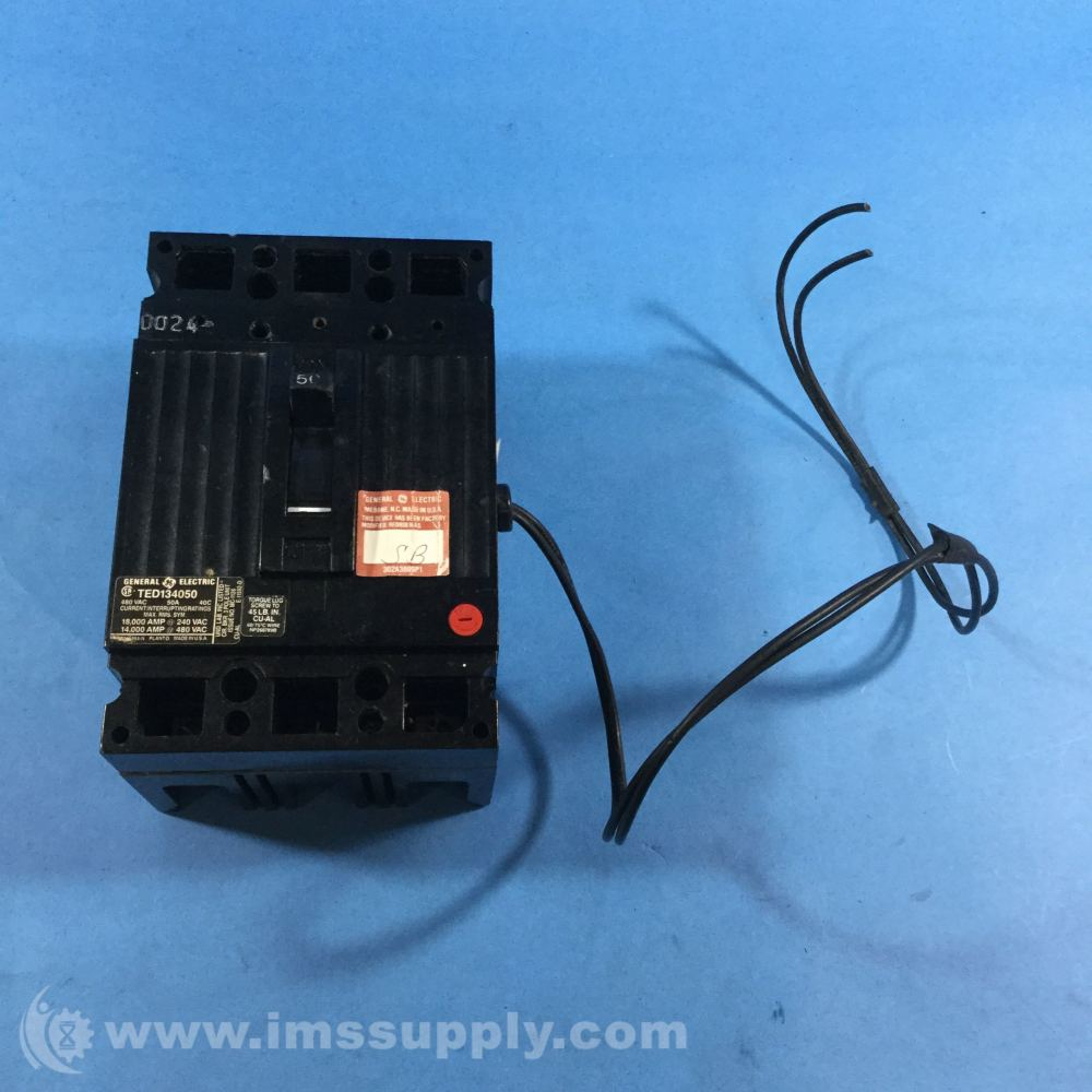 medium resolution of general electric ted134050 shunt trip device 120v to 240v ac ims supply