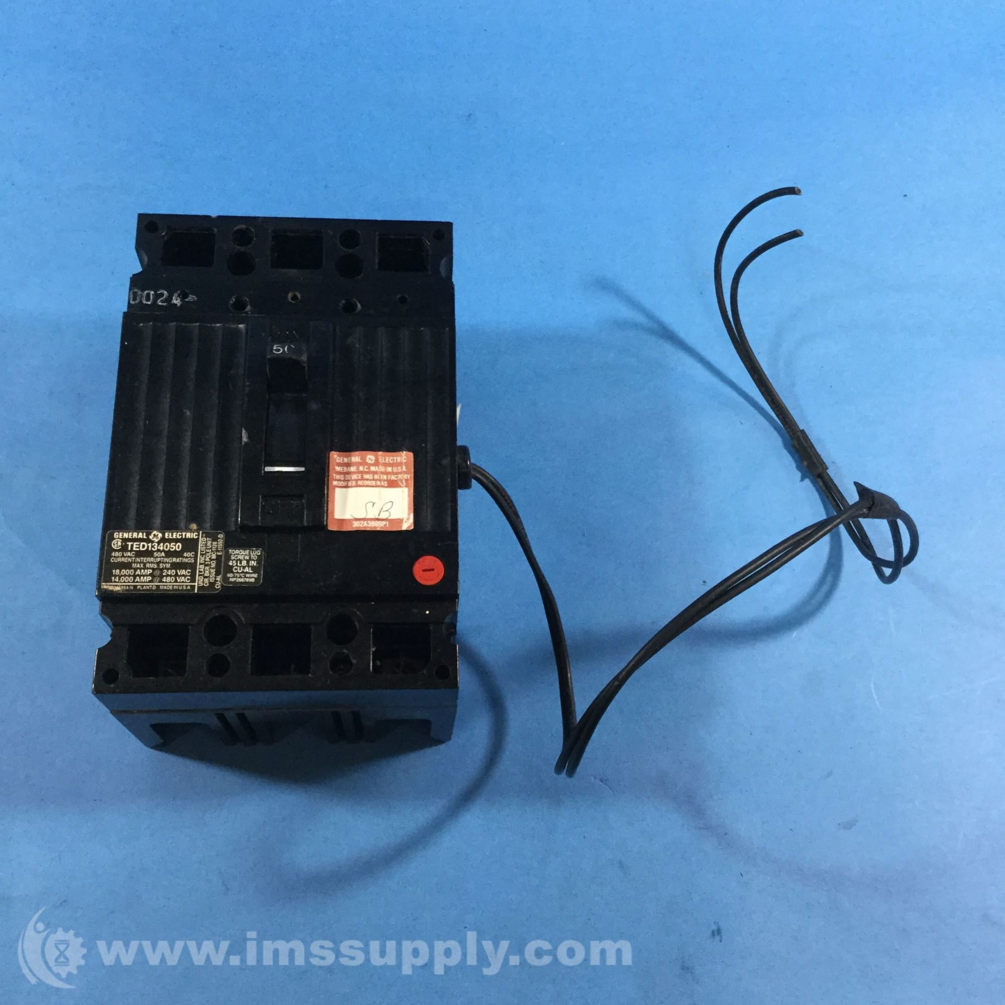 hight resolution of general electric ted134050 shunt trip device 120v to 240v ac ims supply