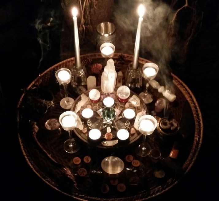 Tradition reflected in a New Moon altar