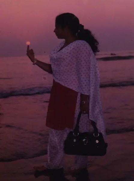 Setting Sun View of Sea Beach