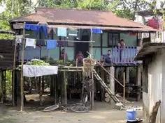 Tribal village in Lowacherra Rain Forest