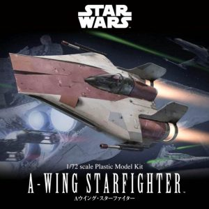 Star Wars A-Wing Fighter 1/72 Model Kit BANDAI