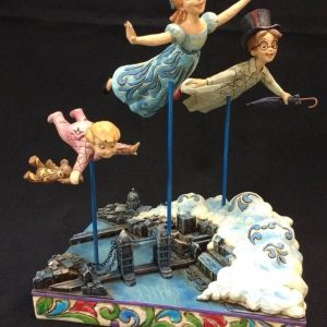 "Disney Store Peter Pan DARLING FAMILY ""STRAIGHT ON TIL MORNING"" Statue"