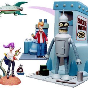 Futurama Action Figures Complete Set of 4 Moore Creations