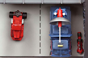 Thunderbirds Radio Car Hanger Konami