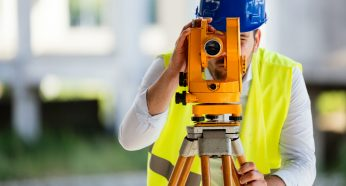 Picture of male construction engineer working on building site