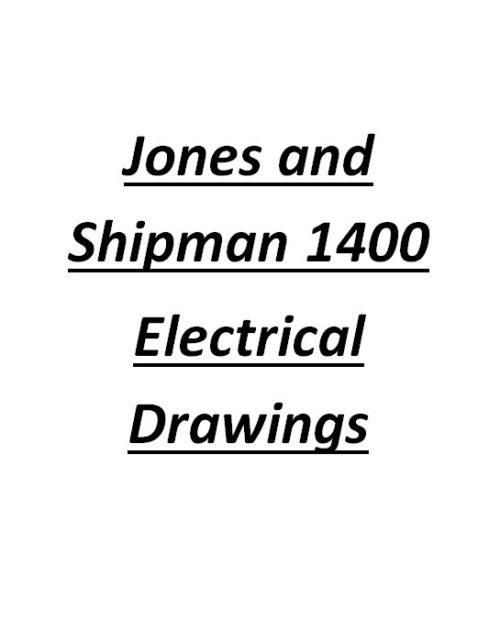 Jones And Shipman 1400 / 1400R Electrical Drawing