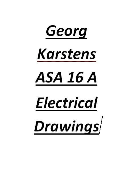 Georg Karstens ASA 16 A Electrical Drawings