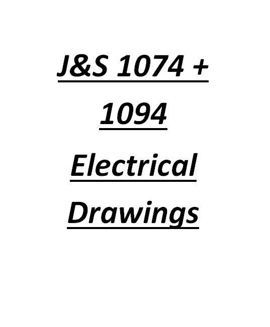 Jones And Shipman 1074 / 1094 Electrical Drawings