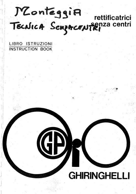Ghiringhelli M Series Operator Manual