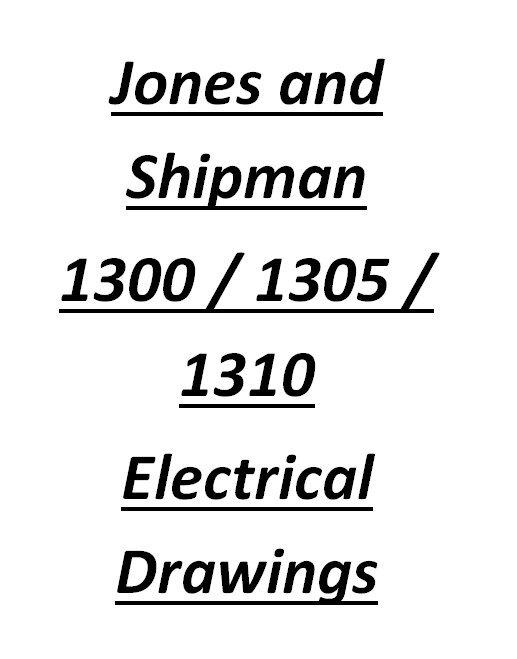 Jones And Shipman 1300 Range Electrical Drawing