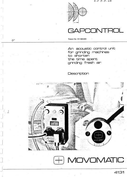 Movomatic Gap Control Description Manual
