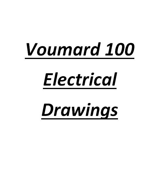Voumard 100 CNC CHS Electrical Drawings