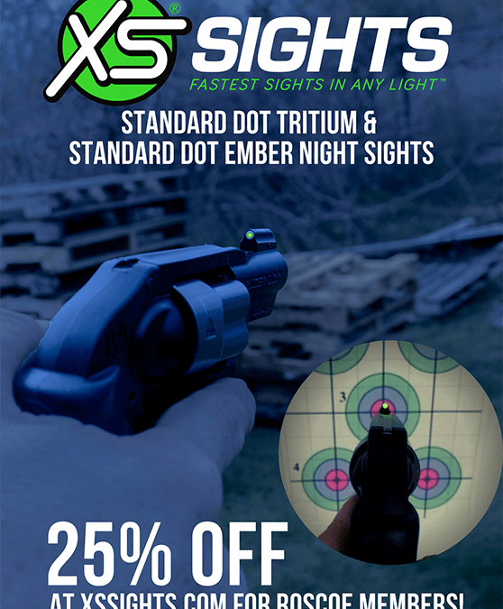 New discount! 25% off XS Sights