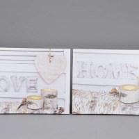 "LED Bild ""Love"" oder ""Home"""