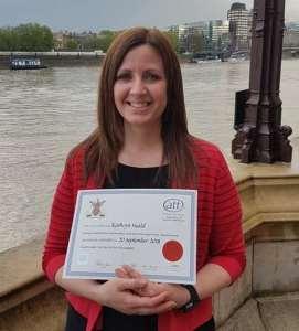 Congratulating Kathryn!