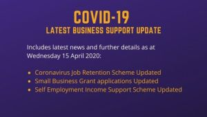 IMPORTANT update regarding Small Business Grants, Coronavirus Job Retention Scheme and Self Employment Income Support Scheme