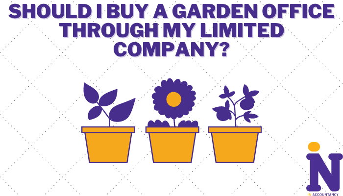 Should I buy a garden office through my limited company article cover design