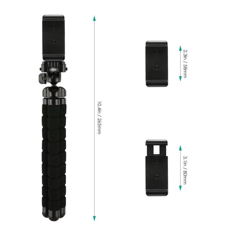 AUKEY iphone スマートフォンホルダー Gopro スポーツカメラ インターバル動画 撮影 アクセサリー iPhone 7、iPhone 7 Plus/Android スマホなどに対応 CP-T03